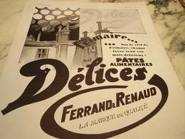 ANCIENNE PUBLICITE FRIMAIRE  PATES ALIMENTAIRE DELICES DE FERRAND RENAUD 1930 - Affiches
