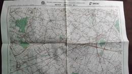 Plan-IGN BELGIQUE   *BEVER - ENGHIEN*   38/3-4.  M834.  1993 - Cartes Géographiques