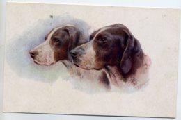 CHIENS  256 Couple Chiens De CHASSE Jolie Carte Illustrateur 1910 - Chiens