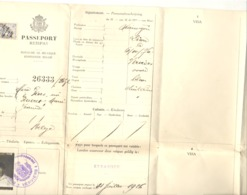 Belgique - PASSEPORT / PASSPORT  - VERVIERS 1924 (b243) - Old Paper