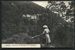 Greccio Panorama Del Santuario Di S. Francesco - Non Viaggiata - Rif. 03248 - Altre Città