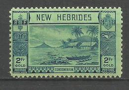 NUEVA HEBRIDES YVERT NUM. 121 * NUEVO CON FIJASELLOS - Leyenda Inglesa