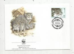 Lettre , 1 Er Jour,official First Day Cover , WWF , Tadjikistan, Tajikistan , 1996 , Otocolobus Manul - Tadjikistan