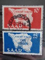 SARRE 1948 Y&T N° 248 & 249 OB - ANNIV. DE LA CONSTITUTION - 1947-56 Ocupación Aliada