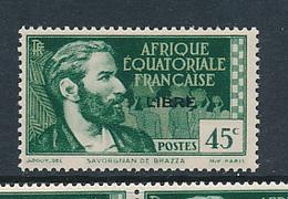 AEF FRANCE LIBRE MAURY DALLAY 129 MNH SANS CHARNIERE - A.E.F. (1936-1958)