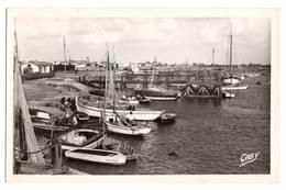 85 VENDEE - L'AIGUILLON SUR MER Le Port, Traitée En Carte Photo - Francia