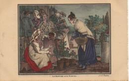75 PARIS  Petits Métiers De Paris En 1820  : Le Marché Aux Fleurs - Petits Métiers à Paris