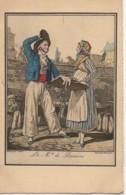 75 PARIS  Petits Métiers De Paris En 1820  : Le Marchand De Poissons - Petits Métiers à Paris