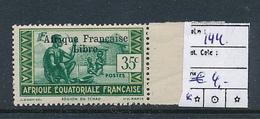AEF FRANCE LIBRE MAURY DALLAY 144 MNH SANS CHARNIERE - A.E.F. (1936-1958)