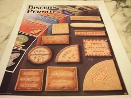 ANCIENNE PUBLICITE BISCUIT PERNOT 1930 - Publicités