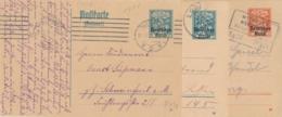 Deutsches Reich - 1920/1 - 3x Deutsches Reich On Bayern-Postkarte - All Used - Postwaardestukken