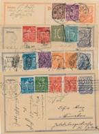 Deutsches Reich - 1922/3 - 4x Postreiter Postkarte + Extra Stamps - All Used - Postwaardestukken