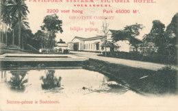 INDE  )) Ines Néerlandaises / VICTORIA HOTEL    Stations Geboum Soekaboemi - India