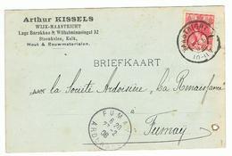 Arthur Kessels  Leverancier Steenkolen En Kalk 1908 Naar Fumay - 1891-1948 (Wilhelmine)