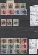 TIMBRES D ALLEMAGNE NEUFS **/* OBLITEREES 1915 Nr VOIR SUR PAPIER AVEC TIMBRES    COTE 73.40 € - Besetzungen 1914-18
