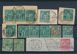 """CK-138: FRANCE: Lot """"SAGE"""" Obl Avec N°75-98-102 Por étude Oblitérations - 1876-1898 Sage (Type II)"""
