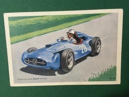 Cartolina Bugatti - Voiture De Corse - 1950 Ca. - Cartoline