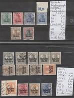 TIMBRES D ALLEMAGNE NEUFS **/* OBLITEREES ( POST GEBIET)1915 Nr VOIR SUR PAPIER AVEC TIMBRES    COTE 40.80 € - Besetzungen 1914-18