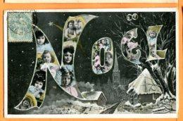VAL028, Noël, H. L. , Bébé, Enfant, étoile Fillante , Circulée 1906 - Noël