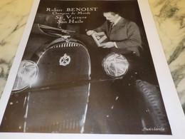 ANCIENNE PUBLICITE HUILE POUR AUTOS KERVOLINE AVEC ROBERT BENOIST 1931 - Affiches