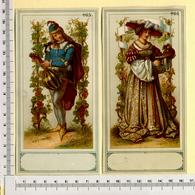 2 CHROMOS LITHOS CARTONNÉES.....H 16 Cm....COSTUMES HISTORIQUES - Vieux Papiers