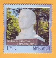 2014  Moldova Moldavie Yuri Gagarin Monument. Village Berezlogi. Personalized Stamp. Space. Mint - Moldova