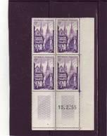 N° 979 - 12F QUIMPER - 10.02.1955 - (1 Trait) - Coins Datés