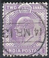 India, 1902 King Edward VII 2a Violet Wmk Star # S.G. 124 - Michel 58 - Scott 63  USED - India (...-1947)