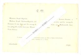 Faire-part De Mariage De V. Tasiaux D'OUFFET Avec L. Dardenne De SOHET-TINLOTen 1940 (b243) - Wedding