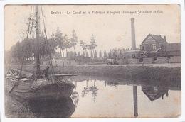 Eecloo - Eeklo Le Canal Et La Fabrique D'engrais Chimiques Standaert & Fils - Eeklo