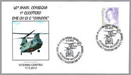 """40 Aniv. Entrega 1er HELICOPTERO EMB CH 47C """"CHINOOK"""". Viterbo 2013 - Helicopters"""