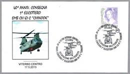 "40 Aniv. Entrega 1er HELICOPTERO EMB CH 47C ""CHINOOK"". Viterbo 2013 - Helicópteros"