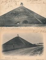 WATERLOO LA PYRAMIDE & LE LION 2 KAARTEN 1902 &1905 - Waterloo
