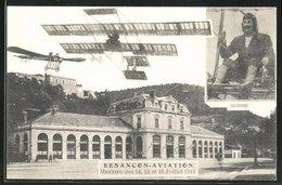 CPA Besancon, Aviation Meeting Des 14, 15 Et 16 Julillet 1911, Flugpionier Junod, Montage - Besancon
