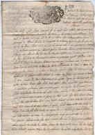 VP14.173 - THONON - Acte De 1717 - Vente D'Immeuble & Terre Situés à TANINGES Provenant Du Seigneur De TANINGES - Manuscripts