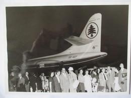 Aviation Civile - Photo Originale Aéroport Beyrouth - Caravelle VI N  - 13,5 X 18 - Années 60 Environ - TBE - Luftfahrt