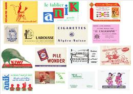 Lot De 15 Buvards Numéro 6 - Buvards, Protège-cahiers Illustrés