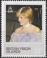 BRITISH VIRGIN ISLANDS 1982 21st Birthday Of Princess Of Wales - 35c Princess At Victoria And Albert Museum, 1981 MNH - Iles Vièrges Britanniques