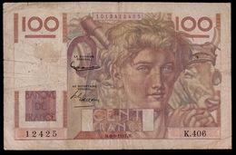 CENT FRANCS 1951   2 SCANS - 1871-1952 Anciens Francs Circulés Au XXème