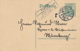 Deutsches Reich - 1915 - 5pf Germania Postkarte - Geprüft Überwachungsstelle KONSTANZ XIV Armeekorps - Postwaardestukken