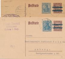 Deutsches Reich - 1921 - 30pf Germania Overprinted Bayern Postkarte P133 Typ I & II - Postwaardestukken