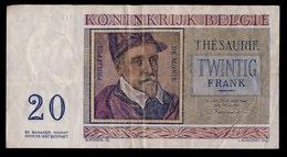 20 FRANK 1956  2 SCANS - [ 2] 1831-... : Royaume De Belgique