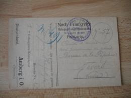 Amberg I O Camp De Prisonnier Prisonniers  Kriegsefangenensendung Censure Allemande - Storia Postale