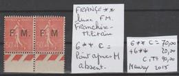 TIMBRES DE FRANÇE NEUF VARIETES FRANCHISE MILITAIRE Nr 6 ** C    COTE 90 € - Franchise Stamps