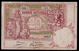 TWINTIG FRANKEN  2390 F     2 SCANS - [ 2] 1831-... : Royaume De Belgique