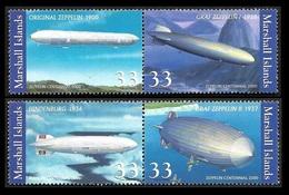 ILES MARSCHALL  2000 -  Mi 1366 à 1369 - Zeppelin - NEUFS** - Marshall