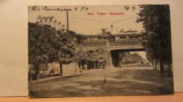 Ak Wien 1909 Prater Mit Hauptallee Und Stadtbahn Riesenrad Von Wien Nach Rawitsch/Posen - Prater