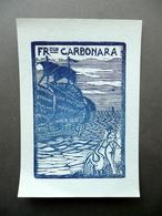 Ex Libris Franceso Carbonara Xilografia Originale Siglata L.S. - Ex Libris