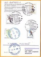 2018 Moldova Moldavie Postcrossing Used Romania Posta Special Postmark - Moldova