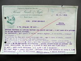 Fattura Rossi Sante E Figli Bastiglia Modena Industria Salumi 14/3/1935 - Non Classificati